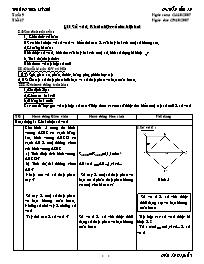 Giáo án Đại số 7 - Tiết 17: Số vô tỉ - Khái n