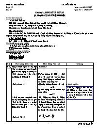 Giáo án Đại số 7 - Tiết 23: Đại lượng tỉ lệ t