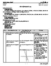 Giáo án Đại số 7 - Tiết 39: Ôn tập học kì 1 (