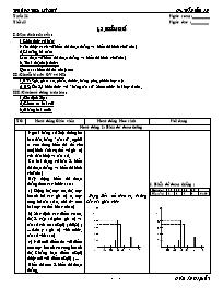 Giáo án Đại số 7 - Tiết 45: Biểu đồ