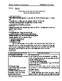 Giáo án Ngữ văn 10 – (Nâng cao) THPT Châu Văn