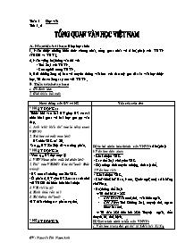 Giáo án Ngữ văn lớp 10 - Tiết 1 đến tiết 53