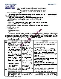Giáo án Ngữ văn lớp 10 - Tiết 34, 35: Khái qu