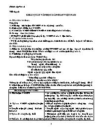 Giáo án Ngữ văn lớp 10 - Tiết 4: Khái quát vă