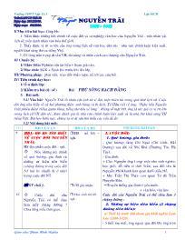 Giáo án Ngữ văn lớp 10 - Tiết 58: Nguyễn Trãi