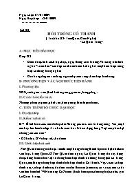 Giáo án Ngữ văn lớp 10 - Tiết 80: Hồi trống Cổ Thành