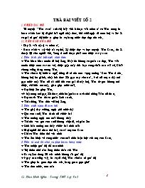 Giáo án Ngữ văn lớp 10 - Trả bài viết số 2