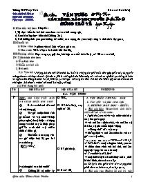 Giáo án Ngữ văn lớp 10 - Vận nước cáo bệnh, b