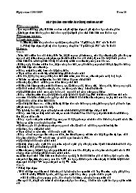 Giáo án tự chọn môn Ngữ văn 12 - Tuần 20