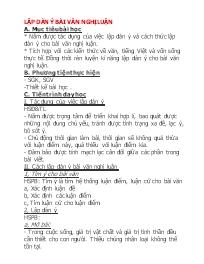 Ngữ văn 10 - Lập dàn ý bài văn nghị luậ