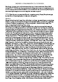 Ngữ văn 10 - Sau khi tự tử ở giếng Loa Thành, xuống thủy cung, Trọng Thủy đã tìm gặp lại Mị Châu. Hãy tưởng tượng và kể lại câu chuyện đó